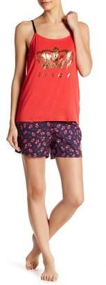 Juicy Couture Pajama Tank Top & Shorts 2-Piece Set
