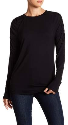 14th & Union Ruched Long Sleeve Tee (Regular and Petite)