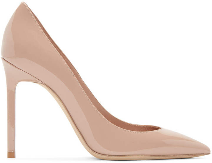 Saint Laurent Pink Patent Leather Anja Pumps