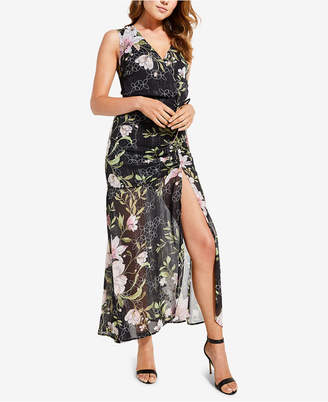 GUESS Nadira Sheer-Hem Gathered Maxi Dress