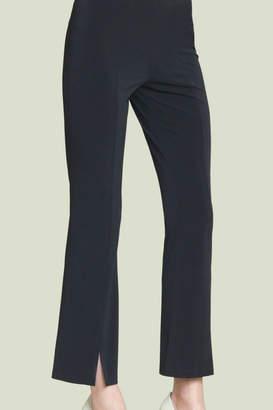 Clara Sunwoo Soft Knit Slit Front Ankle Pant