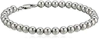 Women's Steling Silver Bead Chain Bracelet