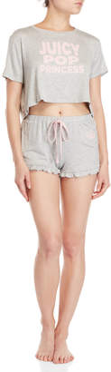 Juicy Couture Two-Piece Tee & Short PJ Set