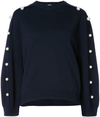 ADAM by Adam Lippes pearl accented sweatshirt