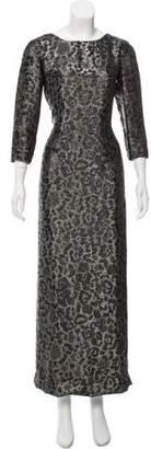 Gucci Silk Metallic Dress