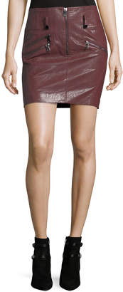Free Generation Faux-Leather Zip-Front Pencil Skirt