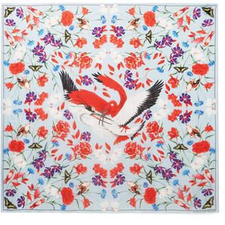 Alexander McQueen Printed Silk-satin Scarf - Red