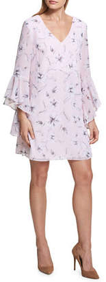 Kensie Bell-Sleeve Shift Dress