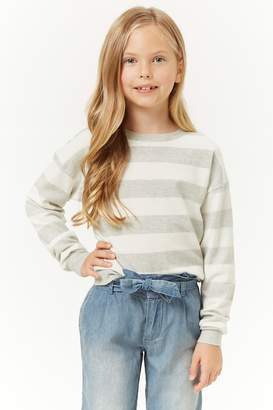 Forever 21 Girls Striped Knit Sweater (Kids)