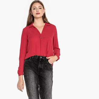 Best Mountain Long-Sleeved Blouse with Shirt Collar