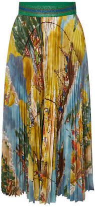Stella Jean Printed Pleated Skirt