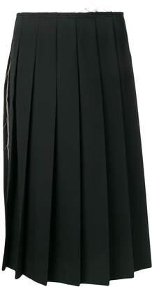 Comme des Garcons frayed waist pleated skirt