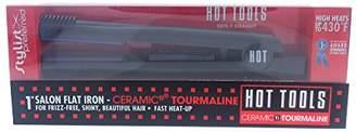 Hot Tools Professional 1188 Ceramic+Titanium 1 Inch Wide Flat Iron with Gentle Far-Infrared Heat
