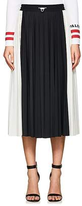 Valentino Women's Lace-Inset Pleated Midi-Skirt