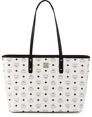 MCM Anya Medium Top-Zip Shopper Bag $690 thestylecure.com
