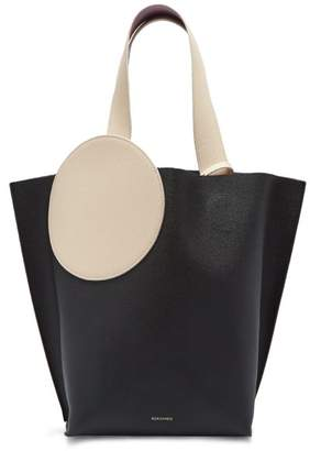 Roksanda Eider Pebbled Leather Tote - Womens - Black