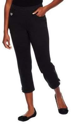 Factory Quacker DreamJeannes Crop Pants w/Rhinestone Zipper