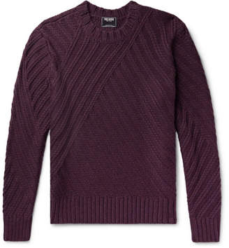 Todd Snyder Ribbed Mélange Merino Wool Sweater