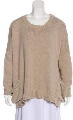 Hache Wool Long Sleeve Sweater