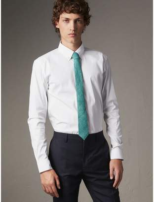 Burberry Slim Fit Button-down Collar Stretch-cotton Shirt