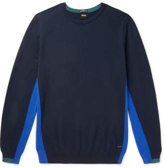HUGO BOSS Tanello Colour-Block Cotton Sweater