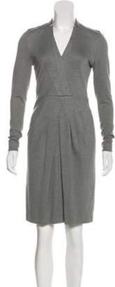 Akris Pleated Knee-Length Dress Grey Pleated Knee-Length Dress