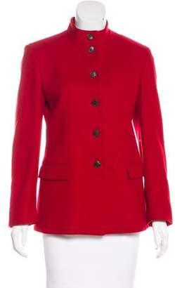 Calvin Klein Collection Button-Up Knit Jacket