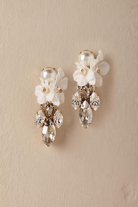 Anthropologie Orchid Waterfall Earrings