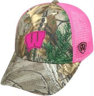 Top of the World Adult Wisconsin Badgers Sneak Realtree Snapback Cap