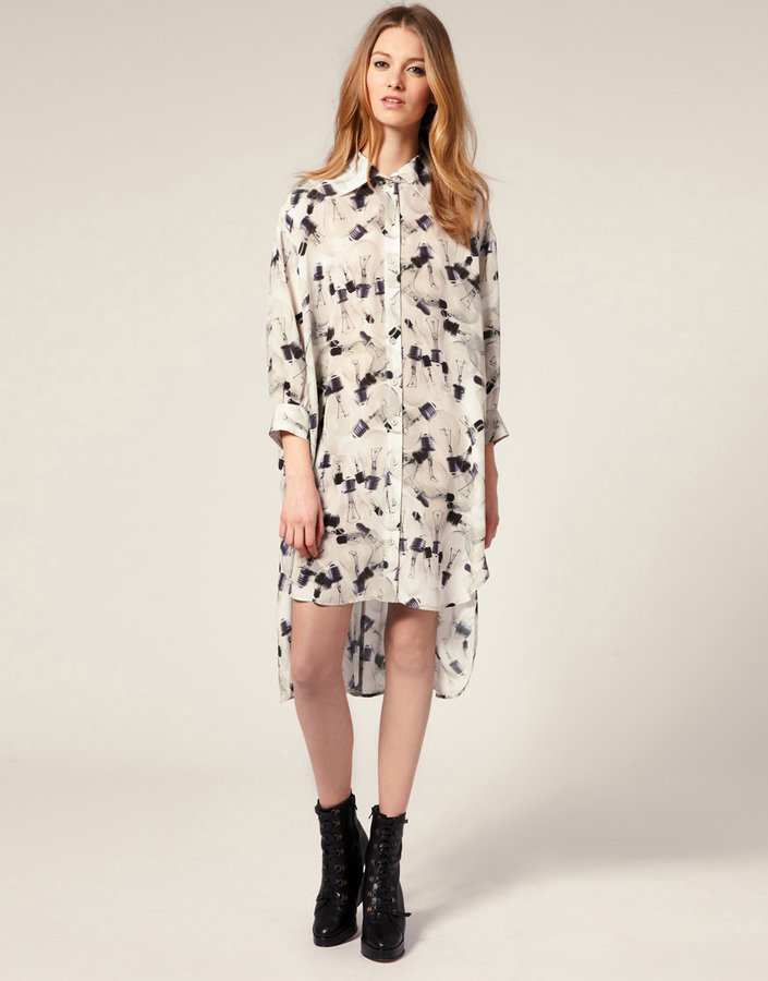 Emma Cook Shirt Dress In Light Bulb Print