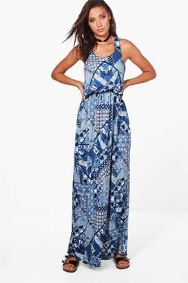 boohoo Tall Charlie Paisley Print Maxi Dress