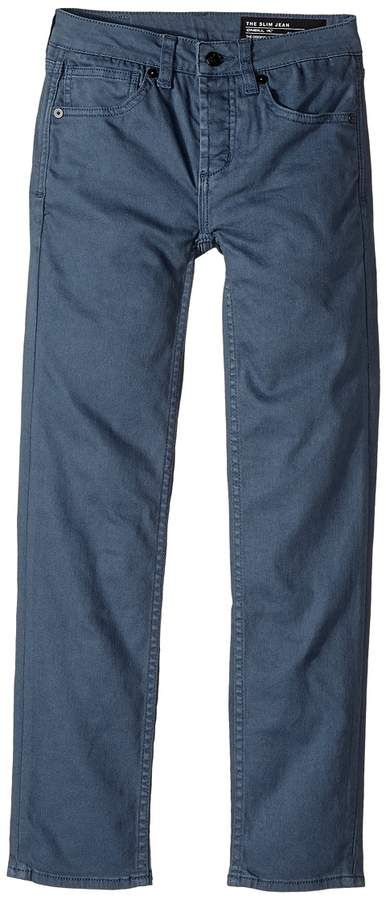 The Slim Twill Denim in Ocean (Big Kids)