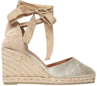 Castaner 80mm Carina Metallic Espadrille Wedges