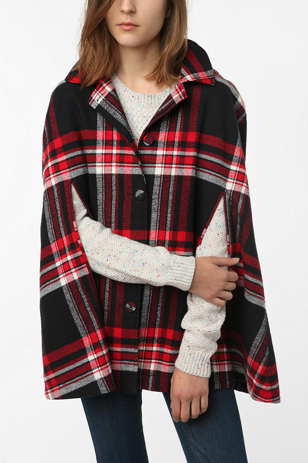 Cooperative Hooded Cape Coat