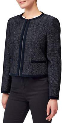 Precis Petite Textured Long-Sleeve Jacket
