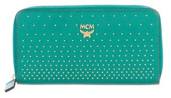MCMMCM Studded Leather Wallet