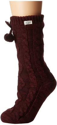 UGG Pom Pom Fleece Lined Crew Sock Women's Crew Cut Socks Shoes