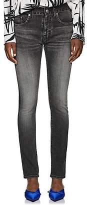 Balenciaga Women's Archetype Colorblocked Skinny Jeans - Gray