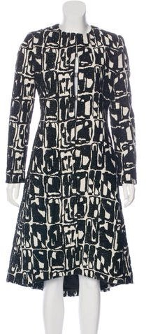 Alice + Olivia Alice + Olivia Metallic Abstract-Patterned Coat