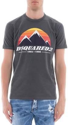 DSQUARED2 Grey Cotton T-shirt