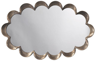 Jamie Young Scalloped Wall Mirror - Antiqued Silver