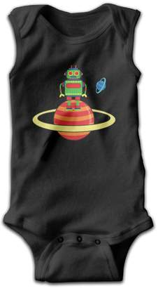 BBBaby Style Space Robot Planet Baby Sleeveless Jumpsuit Romper 6 M
