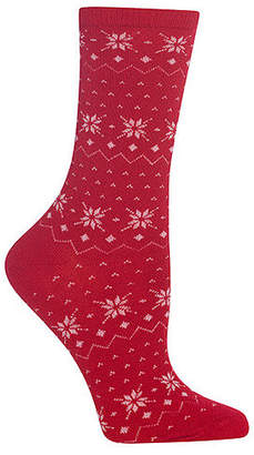 Hot Sox Women's Fair Isle Crew Socks