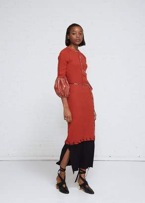J.W.Anderson Laced Contrast Hem Dress