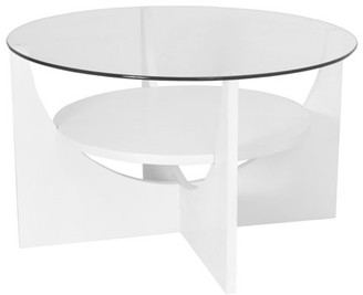 Lumisource U Shaped Contemporary Coffee Table in White