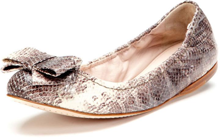 Miu Miu Bow Front Ballet Flat