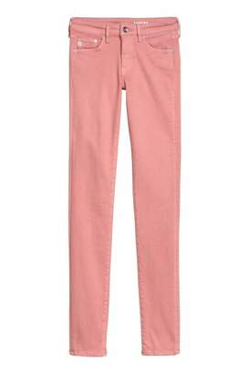 H&M Shaping Skinny Low Jeans - Light pink - Women