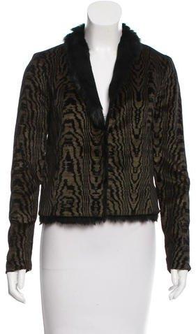 Haute HippieHaute Hippie Fur-Line Wool Pattern Jacket w/ Tags