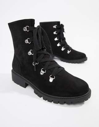 London Rebel Hiker Flat Boots