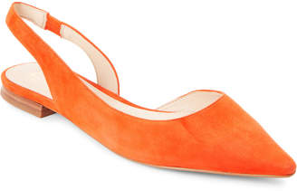 Marc Fisher Orange Sessily Pointed Toe Slingback Flats